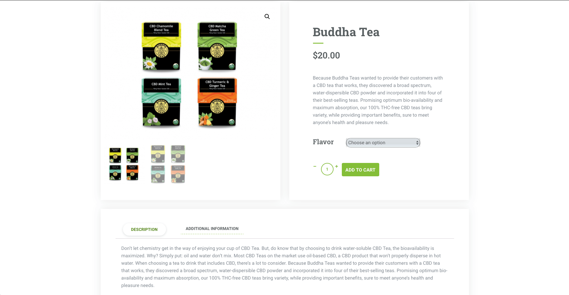 Product page from an e-commerce site designed by 2oddballs