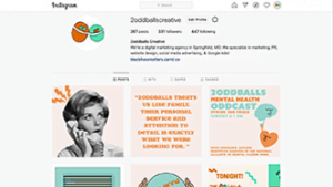 Instagram management by 2oddballs Creative
