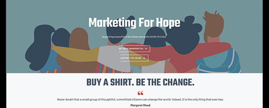 Public relations project for Marketing for Hope